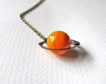 Planet Necklace / Saturn Necklace / Planets Necklace / Galaxy Necklace / Galaxy Jewelry Nebula Necklace Solar System Necklace / Solar System