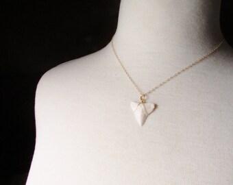 24 Karat Gold Shark Tooth Necklace