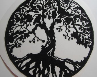 Tree of life Shilouette Window Cling Art HANDMADE