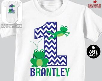 Frog Birthday Shirt or Bodysuit - Frog Birthday Shirt - Personalized Frog Birthday Shirt