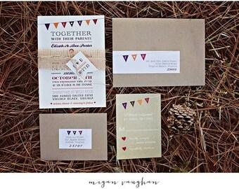 Fall Themed Wedding Invitation