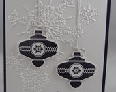Handcrafted Purple Ornaments Christmas Card