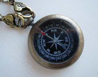 Right Direction Necklace - Working Compass Necklace by Weirdly Cute Jewelry
