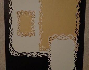 Decorative Labels 4 cutout dies