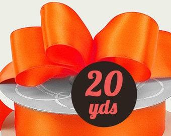 """Satin Torrid Orange Ribbon - 7/8"""" wide at 20 yards"""