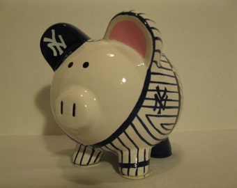 Personalized, Handpainted, Baseball Uniform -  Piggy Bank - MADE TO ORDER