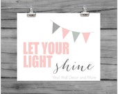 Let your light shine inspirational kids print- 8 by 10