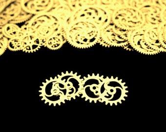 BrassSteampunk Gears, Steampunk Accessories, Steampunk Craft Jewelry Supply -4qty - 1.25 Inch (31.8mm) Gears. Designer Special