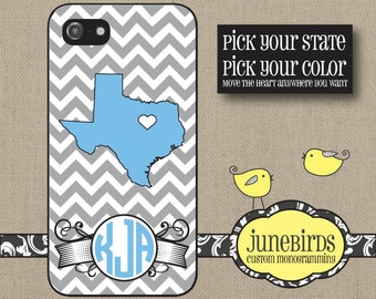 Personalized Iphone 4/4S and Iphone 5 Cell Phone Case - Personalized State Texas