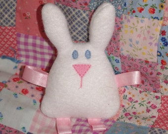 Bunny Softie with ribbon tags