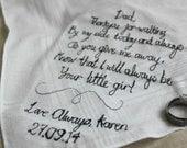 Father of the Bride Wedding Handkerchief / Hanky
