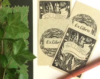 Ex Libris Bookplates: Set of Four