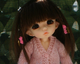 Handmade outfit cardigan for pukifee/lati yellow, but availale for other dolls too