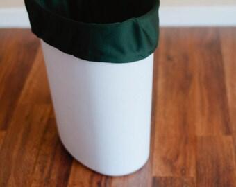 LAST ONE! Diaper Pail Liner - Green Reusable Garbage Pail Liner - Laundry Bag -  Cloth Diaper Pail