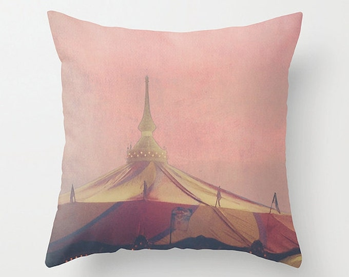 Pink Pastel Sofa Pillow, Rose Accent Pillow, Throw Pillow Cover, 18x18 22x22 Decorative Pillow Cushion, Summer Carnival Decor