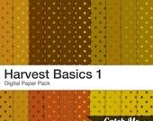 Harvest Basics Digital Scrapbooking Paper Pack