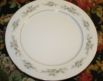"Noritake ""Melissa"" China, 1970s, 2 Dinner Plates, Contemporary Fine China, #3080, Discontinued"