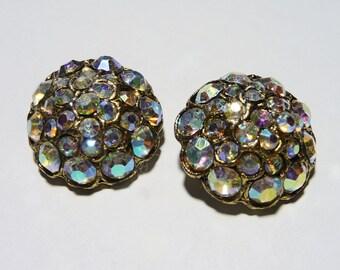 Vintage AB Rhinestone Buttons on Etsy
