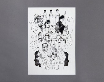 Music Is The Best A4 Art Archival Giclee Print