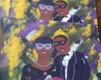 Mardi Gras note cards