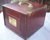 SALE   1923  Mah-Jongg Game  ~  Wood Chest Mah Jong Game Set in Butterscotch Bakelite