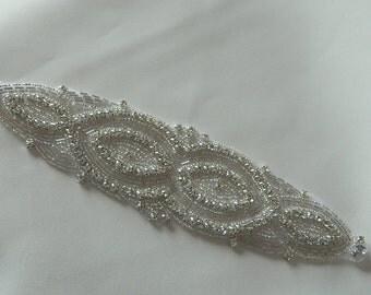Bridal Accessories Crystal Applique Wedding Applique Rhinestone Applique Rhinestone Applique Sash Applique Model:DSCN2325