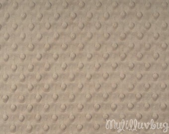 Minky fabric by the yard- latte minky dimple fabric- minky dot fabric
