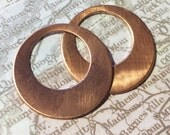 1 inch Copper Disc with 5/8 Cut Out 2 pcs