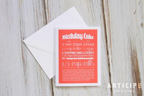 Birthday Card Cake Recipe A-2