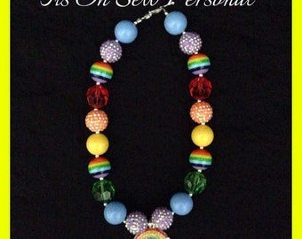Sparkley rainbow necklace