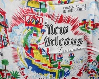 Vintage silk souvenir scarf New Orleans