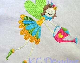 Garden Fairies 03 Machine Embroidery Design - 4x4, 5x7 & 6x8
