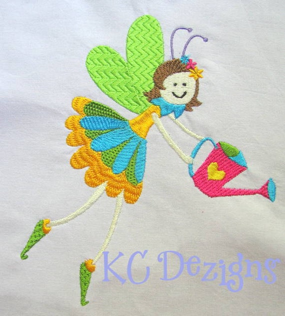 Garden fairies 03 machine embroidery design garden fairy for Garden embroidery designs free