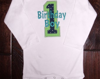 Boutique Birthday Boy or Girl shirt or Bodysuit or Shirt.  Sizes 6M to 14 Youth in Long Sleeves or Short