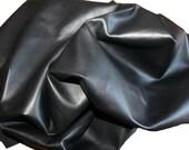 Italian soft lambskin leather skin hide skins hides BLACK 9sqf
