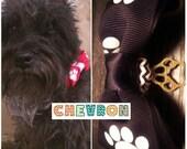 Mason's Bone-ified Bowties Chevron Dog/Pet Collar Adornment (New colors!)