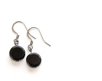 Simple Black Bead Dangles
