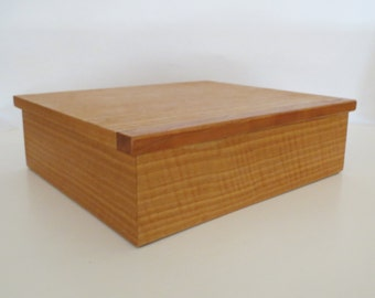 Jewelry Box made from English Ash and Cherry with Felt Interior