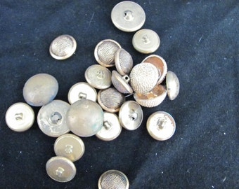 Lot of 25 Vintage Metal/ Brass Buttons