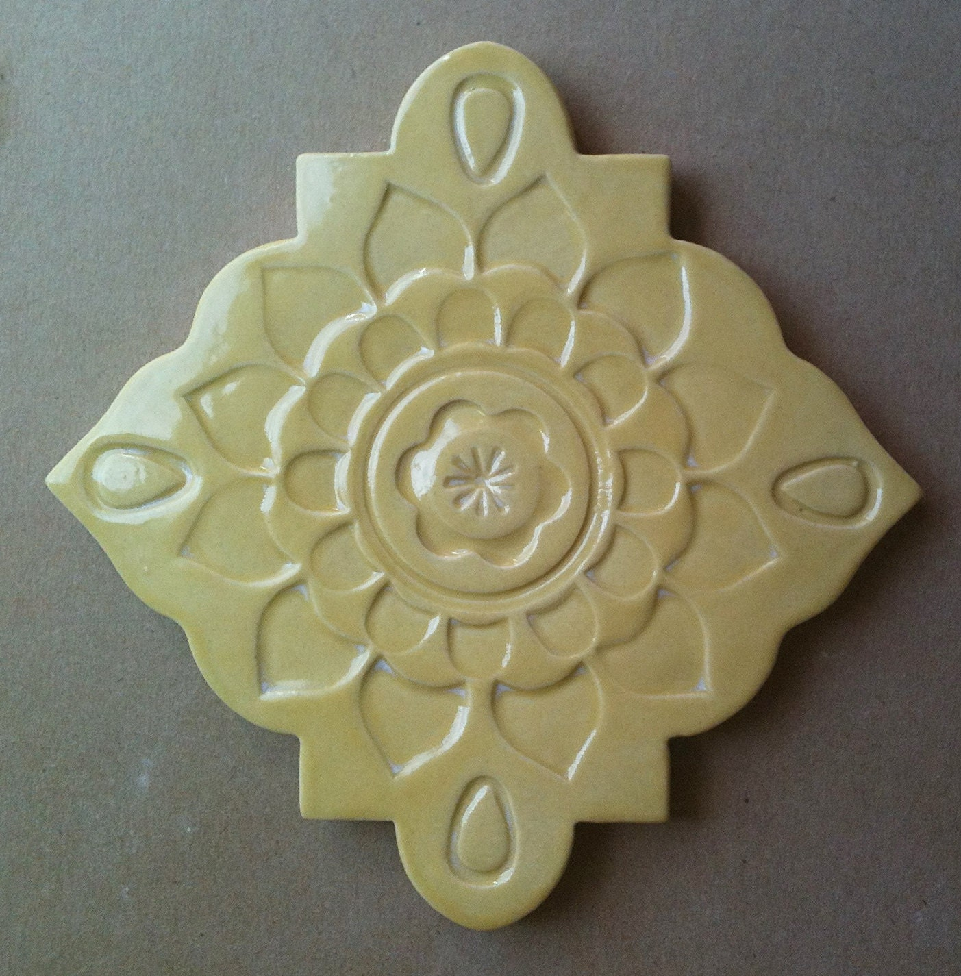 Ceramic Trivet Art Tile Wall Hanging