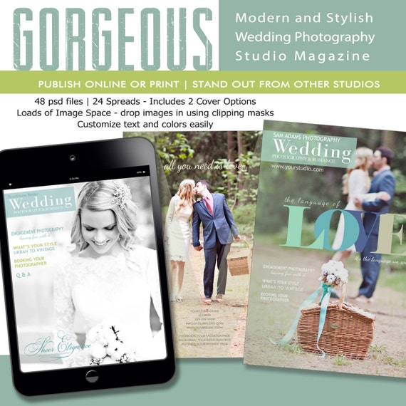 Wedding photography magazine template for by savantdesign for Wedding photography magazine template