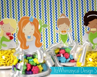 Mermaid | Mermaid Party | Mermaid Birthday Party | Mermaid Baby Shower | Mermaid Party Favors | Candy Container | Party Favor Boxes | Gifts