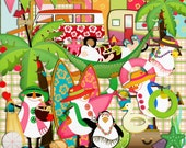 Christmas scrapbook Kit, Hot christmas, Beach Christmas, Holiday Christmas, Christmas In July, Instant Download
