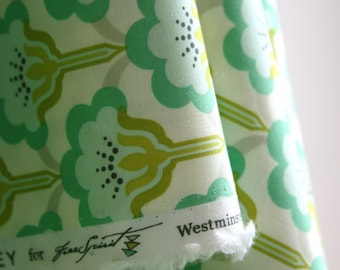 Pop Blossom in Turquoise by Heather Bailey from the True Colors Collection - Freespirit Fabrics - ONE FAT QUARTER  Cut