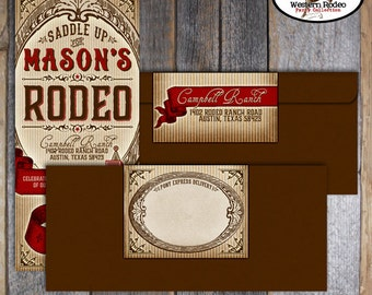 Cowboy Invitation | Cowboy Birthday Invitation | Rodeo Party Invitation | Rodeo Birthday | Address Labels | Country Western | Printable