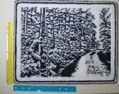 Snowy Road, a knitted snow landscape picture.