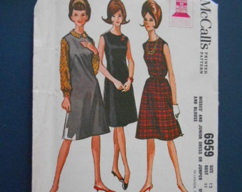 McCalls 6959, Vintage Dress, size 12