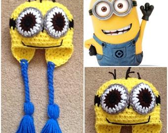 Crochet Minion Beanie/Hat