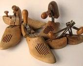 Six Vintage Wooden Shoe Stretchers