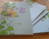 """RESERVED4SALE Vintage 70's """"CURRENT - Just a Note"""" Cards """"Soda Sipper Design""""  Fold Over Style."""